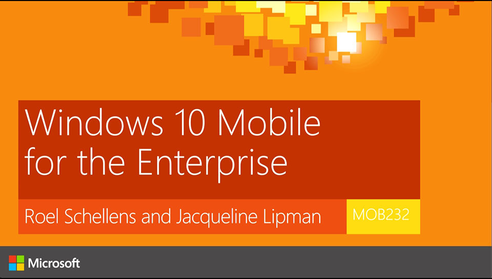 Windows 10 Mobile for the Enterprise