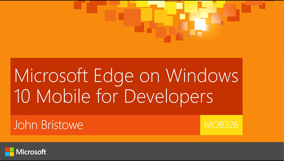 Microsoft Edge on Windows 10 Mobile for Developers