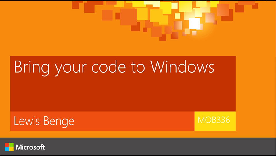 Bring your code to Windows