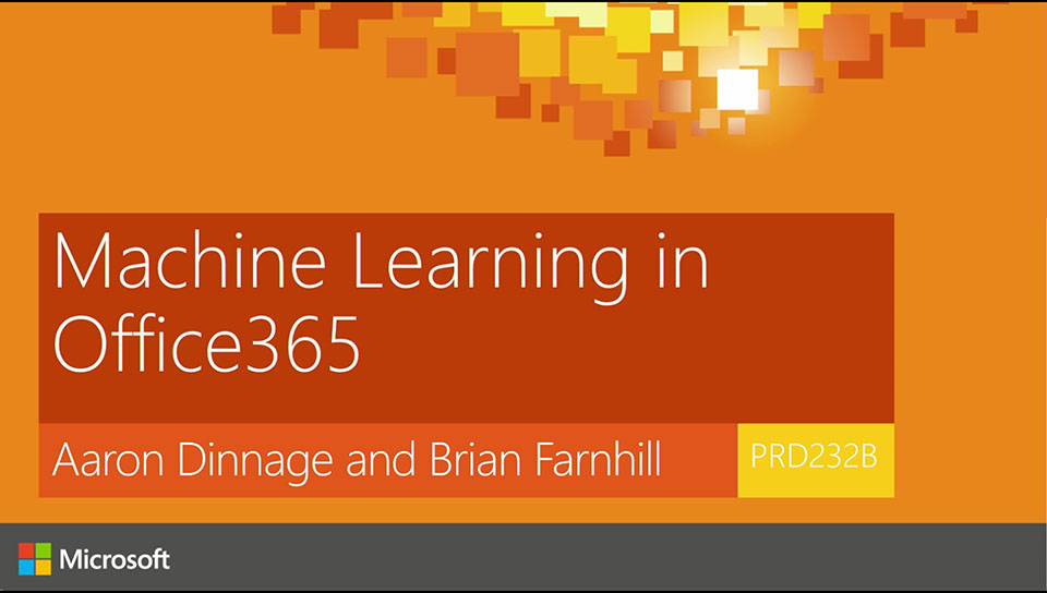 Machine Learning in Office 365