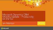 Microsoft Dynamics CRM Mobility Update - Productivity on the Go