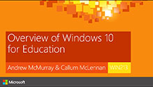 Overview of Windows 10 For Education