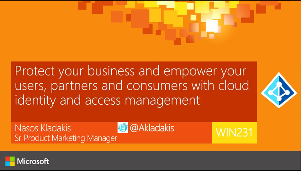 Protect your business and empower your users, partners and consumers with cloud identity and access management
