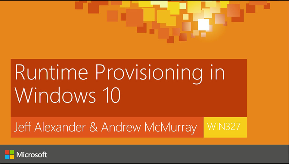 Provisioning Windows 10 Devices with New Tools