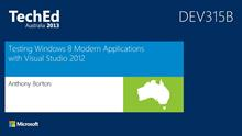 Testing Windows 8 Modern Applications with Visual Studio 2012