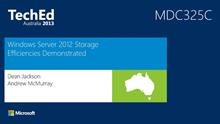 Windows Server 2012 Storage Efficiencies Demonstrated