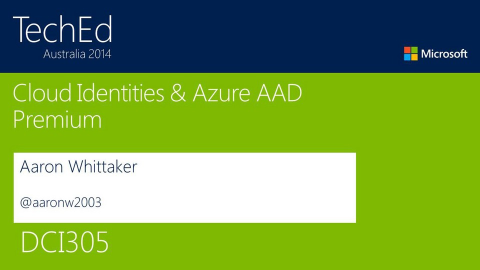 Cloud Identities and Azure Active Directory (WaaD) Premium