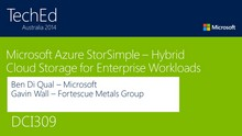 Microsoft Azure StorSimple - Hybrid Cloud Storage for Enterprise Workloads