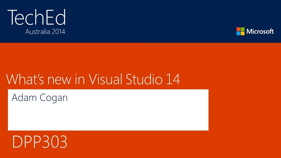 What's New in Visual Studio + ALM