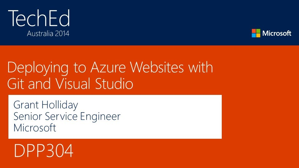 Deploying to Azure Websites with Git and Visual Studio