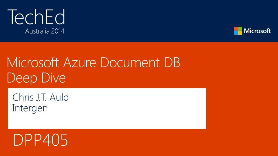 Microsoft Azure Document Database Deep Dive