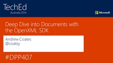 Deep Dive into Documents with the OpenXML SDK