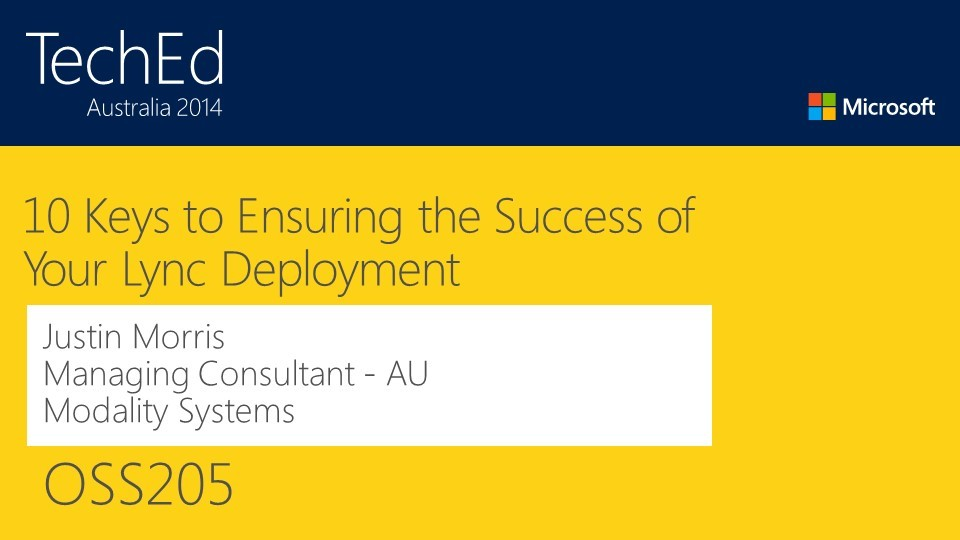 10 keys to ensuring the success of your Lync deployment