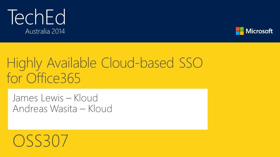 Highly Available Cloud-based SSO for Office365