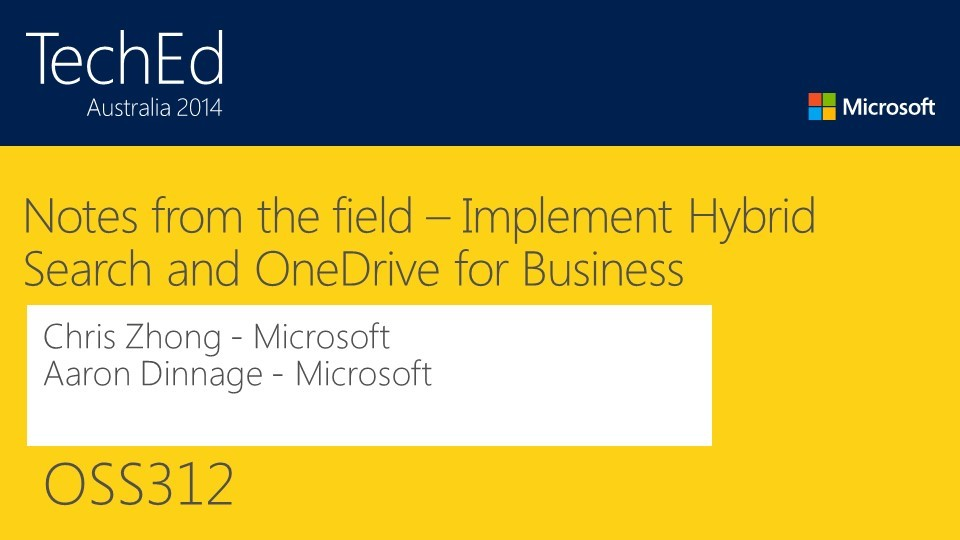 Notes from the field - SharePoint 2013 Hybrid Search and OneDrive for Business