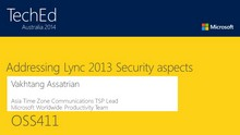 Addressing Lync 2013 Security aspects