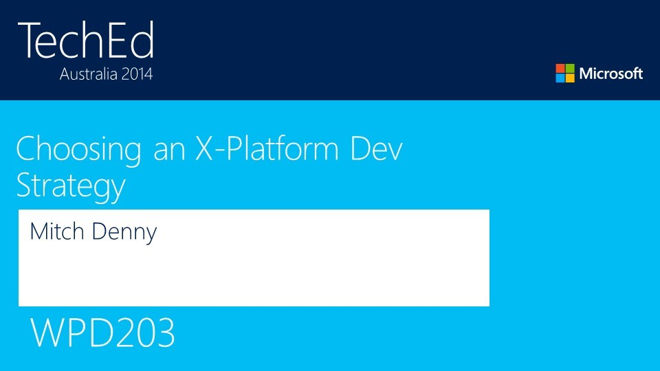 Choosing a X-Platform Dev Strategy