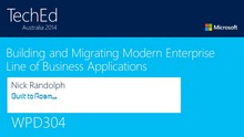 Building and Migrating Modern Enterprise Line of Business Applications