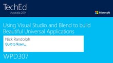 Using Visual Studio and Blend to build Beautiful Universal Applications