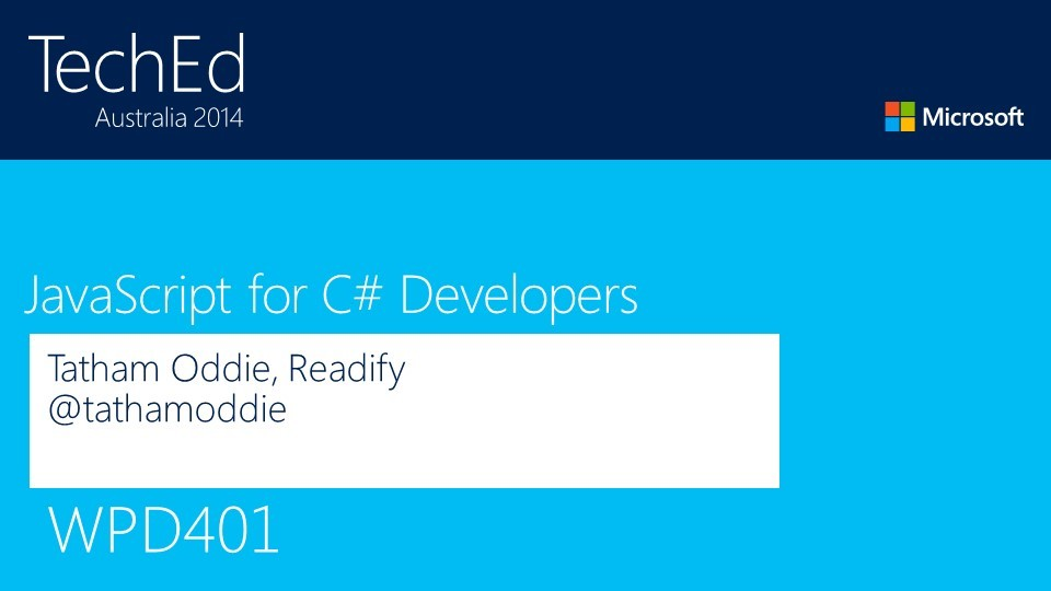 JavaScript for C# Developers