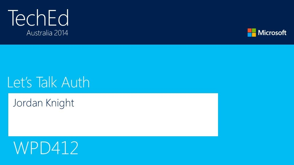 Let's Talk Auth