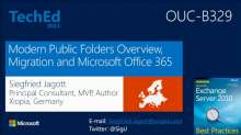 Modern Public Folders Overview, Migration and Microsoft Office 365