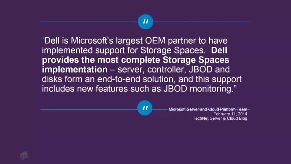 Dell Storage Spaces: An End-to-End Solution