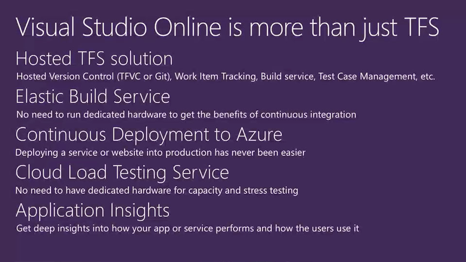 Visual Studio Online: Overview and Best Practices
