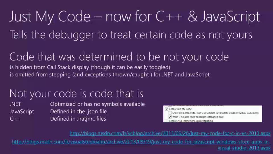 Debugging Tips and Tricks in Visual Studio 2013