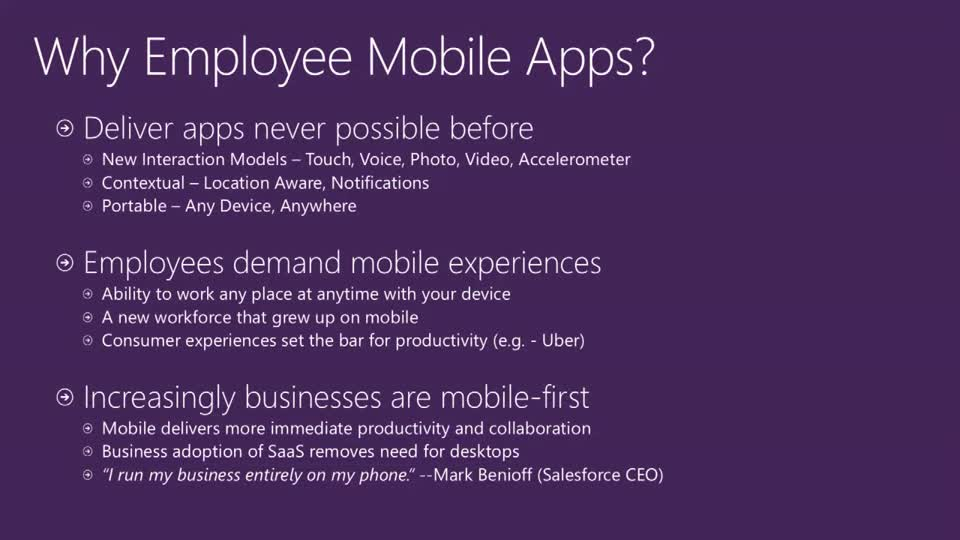 Build Employee and Partner Facing Mobile Apps Using Microsoft Azure
