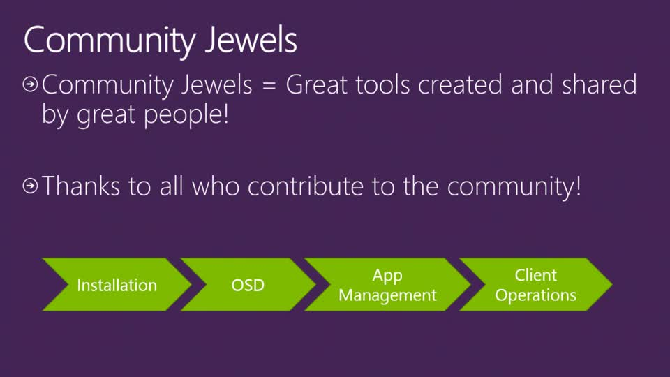 System Center Configuration Manager Community Jewels