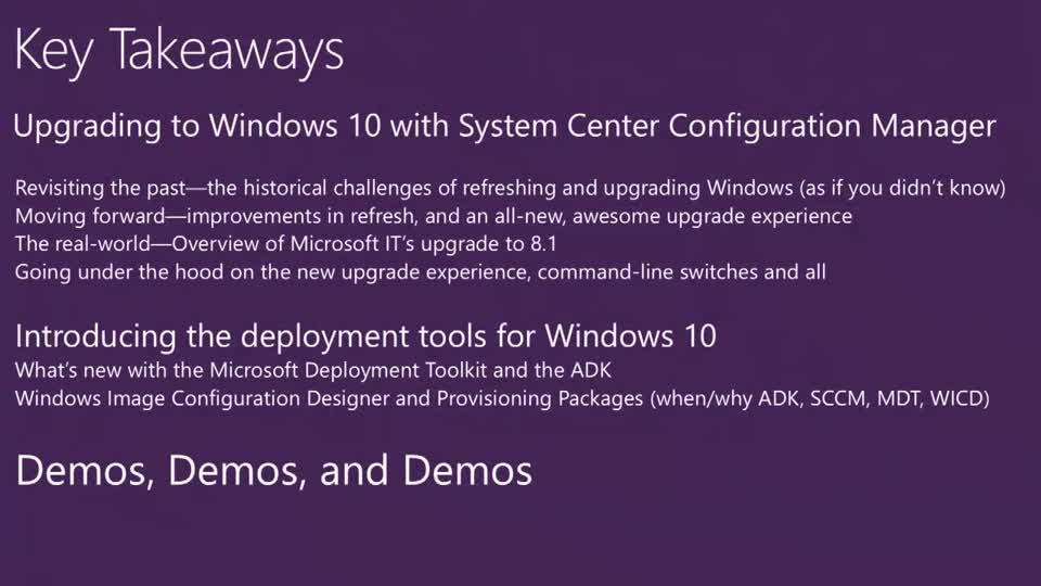 What's New and Upcoming with OS Deployment in System Center Configuration  Manager and the Microsoft Deployment Toolkit