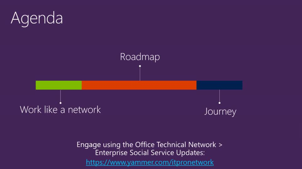 The Microsoft Roadmap for Enterprise Social