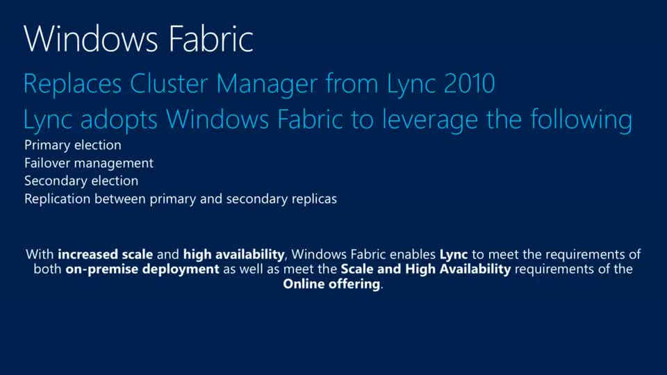 Microsoft Lync Server 2013 High Availability and Disaster Recovery Deep Dive