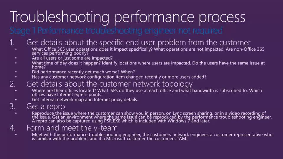 Office 365 Network Performance Troubleshooting