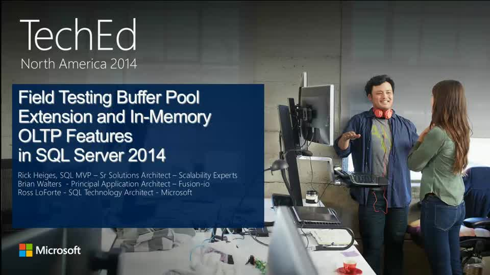 Microsoft SQL Server 2014 Field Benchmarking In-Memory OLTP and Buffer Pool Extension Features (Doing More with Less)