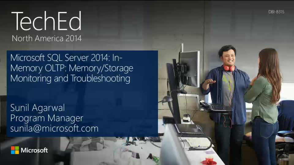 Microsoft SQL Server 2014: In-Memory OLTP: Memory/Storage Monitoring and Troubleshooting