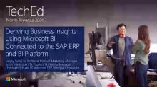 Deriving Business Insights Using Microsoft BI Connected to the SAP ERP and BI Platform