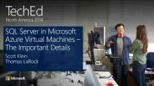 SQL Server on Microsoft Azure Virtual Machines: The Important Details