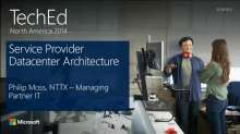 Service Provider Datacenter Architecture