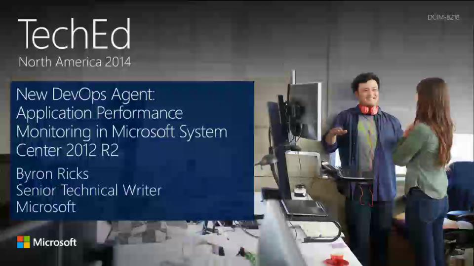 New DevOps Agent: Application Performance Monitoring in Microsoft System Center 2012 R2