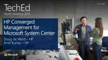 HP Converged Management for Microsoft System Center