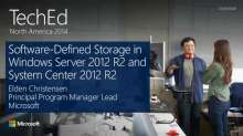 Software-Defined Storage in Windows Server 2012 R2 and Microsoft System Center 2012 R2