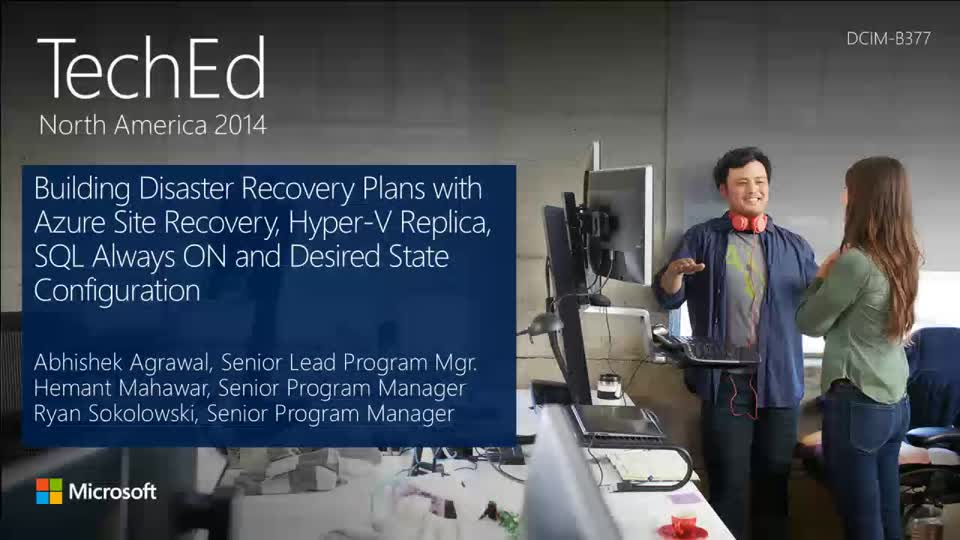 Building Disaster Recovery Plans for Microsoft Workloads and Applications with Hyper-V Recovery Manager and Desired State Configuration