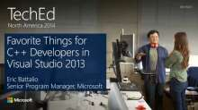 Favorite Things for C++ Developers in Visual Studio 2013