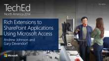 Rich Extensions to SharePoint Applications Using Microsoft Access