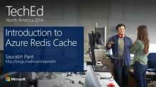 Introduction to Windows Azure Redis Cache