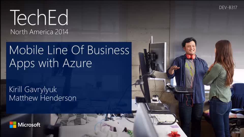 Mobile Line-of-Business Applications in Microsoft Azure