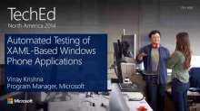 Automated Testing of XAML-Based Windows Phone Applications