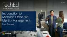 Introduction to Microsoft Office 365 Identity Management